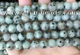 CLJ433 15.5 inches 12mm faceted round sesame jasper beads