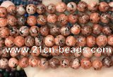 CLJ509 15.5 inches 4mm,6mm,8mm,10mm & 12mm round sesame jasper beads