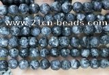 CLJ564 15.5 inches 6mm,8mm,10mm & 12mm faceted round sesame jasper beads