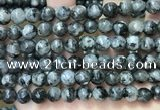 CLJ565 15.5 inches 6mm,8mm,10mm & 12mm faceted round sesame jasper beads