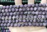 CLJ587 15 inches 8mm round matte sesame jasper beads