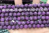 CLJ589 15 inches 8mm round matte sesame jasper beads
