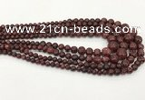 CLJ615 6mm - 14mm round sesame jasper graduated beads