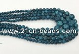 CLJ616 6mm - 14mm round sesame jasper graduated beads