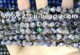 CLJ625 15 inches 8mm faceted nuggets sesame jasper beads