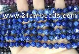 CLJ630 15 inches 8mm faceted nuggets sesame jasper beads