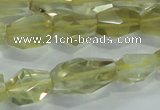 CLQ102 8*12mm - 12*22mm faceted nuggets natural lemon quartz beads