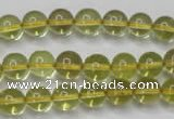 CLQ202 15.5 inches 8mm round natural lemon quartz beads wholesale