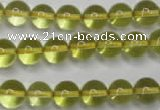 CLQ203 15.5 inches 10mm round natural lemon quartz beads wholesale