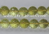 CLQ56 15.5 inches 8mm faceted round natural lemon quartz beads