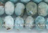 CLR104 15.5 inches 5*9mm faceted rondelle larimar gemstone beads