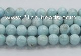 CLR15 15.5 inches 6mm round grade A natural larimar gemstone beads