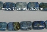 CLR220 15.5 inches 10*14mm rectangle larimar gemstone beads