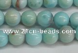 CLR352 15.5 inches 8mm round dyed larimar gemstone beads