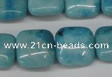 CLR382 15.5 inches 14*14mm square dyed larimar gemstone beads