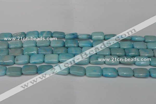 CLR392 15.5 inches 10*14mm rectangle dyed larimar gemstone beads