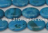 CLR421 15.5 inches 10*14mm oval dyed larimar gemstone beads