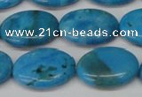 CLR423 15.5 inches 13*18mm oval dyed larimar gemstone beads