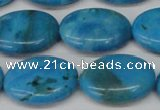CLR424 15.5 inches 15*20mm oval dyed larimar gemstone beads