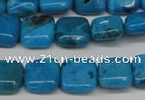 CLR430 15.5 inches 10*10mm square dyed larimar gemstone beads