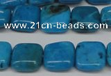 CLR431 15.5 inches 12*12mm square dyed larimar gemstone beads