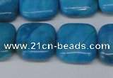 CLR433 15.5 inches 16*16mm square dyed larimar gemstone beads