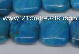 CLR434 15.5 inches 18*18mm square dyed larimar gemstone beads