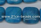 CLR436 15.5 inches 25*25mm square dyed larimar gemstone beads