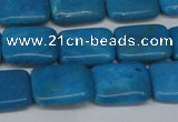 CLR440 15.5 inches 8*12mm rectangle dyed larimar gemstone beads