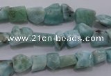 CLR47 15.5 inches 5*7mm – 10*12mm nuggets natural larimar beads