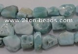 CLR48 15.5 inches 6*7mm – 10*14mm nuggets natural larimar beads