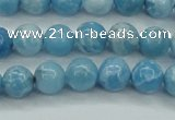 CLR601 15.5 inches 6mm round imitation larimar beads wholesale