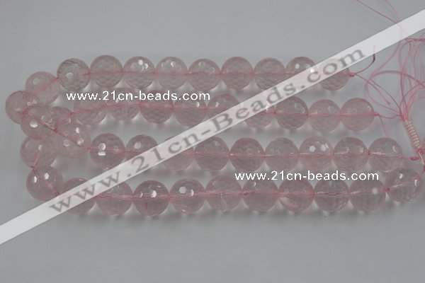 CLS155 15.5 inches 18mm faceted round rose quartz beads