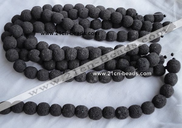CLV01 14 inches 14*15mm roundel natural lava beads wholesale
