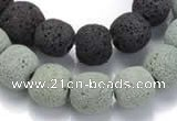 CLV02 14 inches 12mm ball natural lava loose beads wholesale
