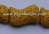 CLV21 16 inches 13*21mm marquise yellow natural lava beads wholesale