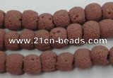 CLV360 15.5 inches 9mm ball dyed lava beads wholesale