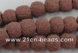 CLV361 15.5 inches 11mm ball dyed lava beads wholesale