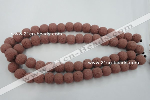 CLV362 15.5 inches 13mm ball dyed lava beads wholesale