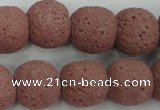 CLV363 15.5 inches 16mm ball dyed lava beads wholesale