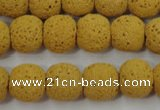 CLV370 15.5 inches 12mm ball dyed lava beads wholesale