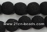 CLV382 15.5 inches 16mm ball dyed lava beads wholesale