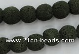 CLV385 15.5 inches 12mm ball dyed lava beads wholesale