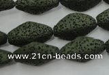 CLV397 15.5 inches 14*22mm diamond dyed lava beads wholesale