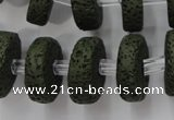 CLV411 15.5 inches 7*20mm tyre dyed lava beads wholesale