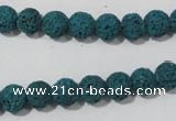 CLV452 15.5 inches 8mm round dyed blue lava beads wholesale