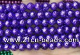 CLV549 15.5 inches 8mm round plated lava beads wholesale