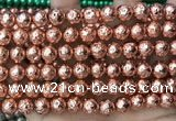 CLV553 15.5 inches 10mm round plated lava beads wholesale