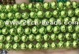 CLV556 15.5 inches 10mm round plated lava beads wholesale