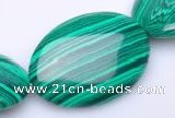 CMA06 22*30mm flat oval imitate malachite beads Wholesale